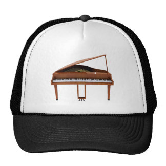 Grand Piano: Wood Finish: 3D Model: Trucker Hat