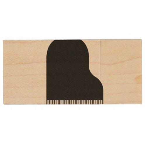 Grand Piano Wood Flash Drive