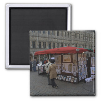 Grand' Place, Brussels 2 Inch Square Magnet