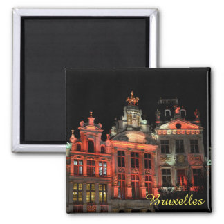 Grand Place in Brussels, Belgium 2 Inch Square Magnet