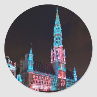 Grand Place in Brussels Round Sticker