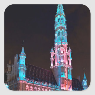 Grand Place in Brussels Square Sticker