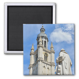 Grand Place of Halle, Belgium Magnet