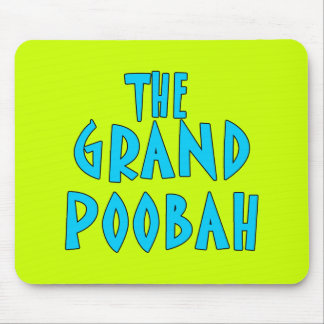 Grand Poobah Blue Font Products Mouse Pad