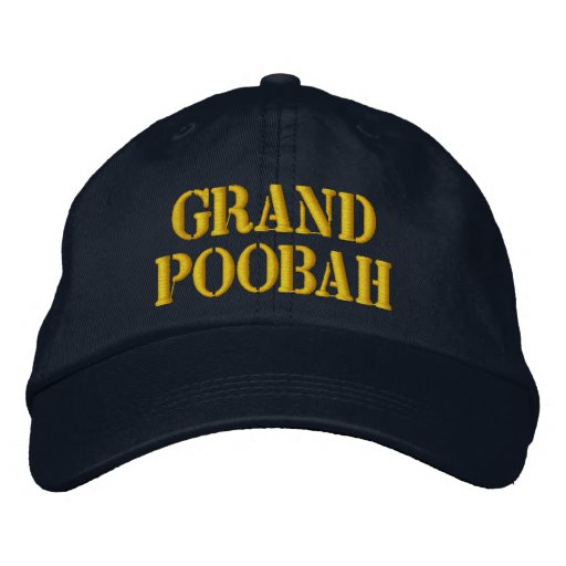 Grand Poobah Embroidered Cap Zazzle Com