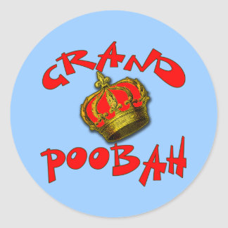 Grand Poobah with Crown Products Round Stickers