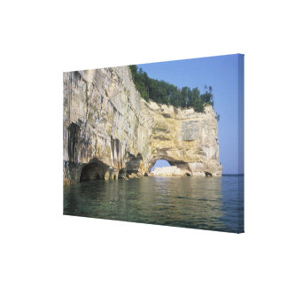 Grand Portal Point Pictured Rocks Michigan Stretched Canvas Prints