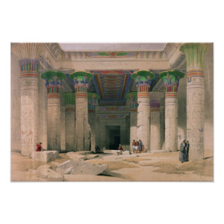 Grand Portico of the Temple of Philae, Nubia Poster
