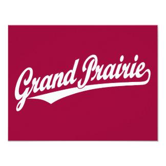 Grand Prairie script logo in white Card