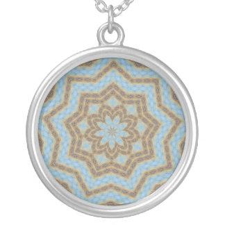 Grand Prismatic Spring Companion Round Pendant Necklace