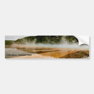 GRAND PRISMATIC SPRING IN YELLOWSTONE BUMPER STICKER