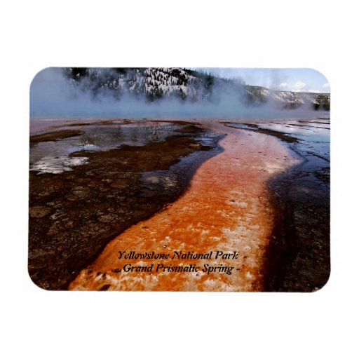 GRAND PRISMATIC SPRING IN YELLOWSTONE PARK (6) VINYL MAGNETS