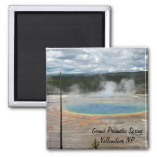 Grand Prismatic Spring 2 Inch Square Magnet