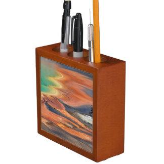 Grand Prismatic Spring Runoff Pencil/Pen Holder