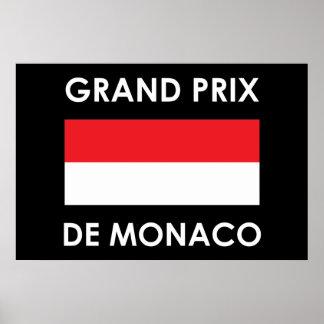 Grand Prix De Monaco Poster