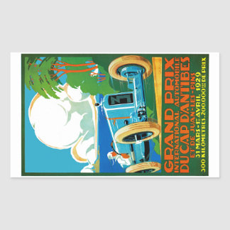 Grand Prix Du Cap d'Antibes Rectangular Sticker