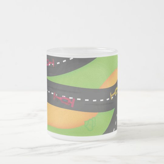 Grand Prix Frosted Glass Coffee Mug