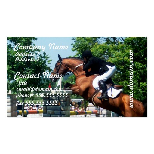 Grand Prix Horse  Business Cards