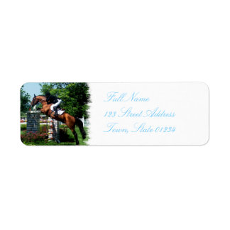Grand Prix Horse  Mailing Label Return Address Label