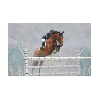 Grand Prix Jumper-Fog-2 Wrapped Canvas