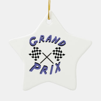 Grand Prix Double-Sided Star Ceramic Christmas Ornament