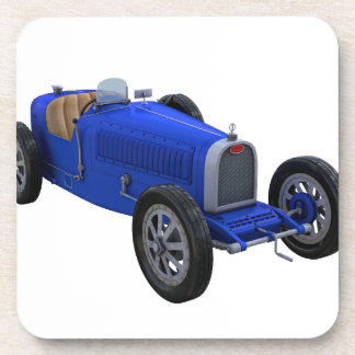 Grand Prix Racing Car in Blue Beverage Coaster