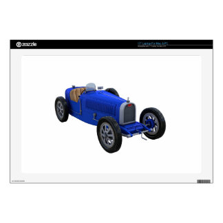 Grand Prix Racing Car in Blue Decal For Laptop