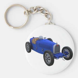 Grand Prix Racing Car in Blue Keychain