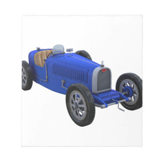 Grand Prix Racing Car in Blue Notepad