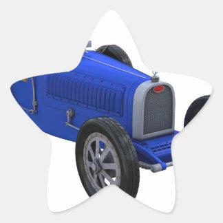 Grand Prix Racing Car in Blue Star Sticker
