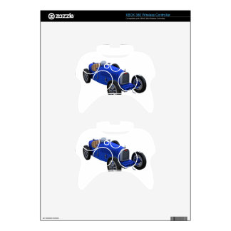 Grand Prix Racing Car in Blue Xbox 360 Controller Skins