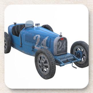 Grand Prix Racing Car in Light Blue Coaster