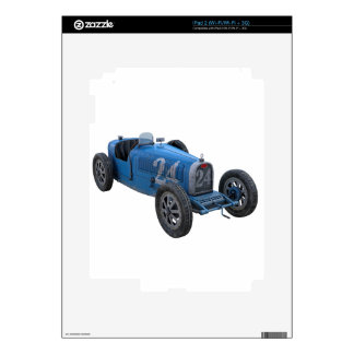Grand Prix Racing Car in Light Blue Decal For The iPad 2