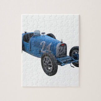 Grand Prix Racing Car in Light Blue Jigsaw Puzzle