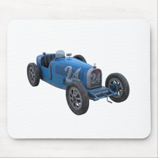 Grand Prix Racing Car in Light Blue Mouse Pad