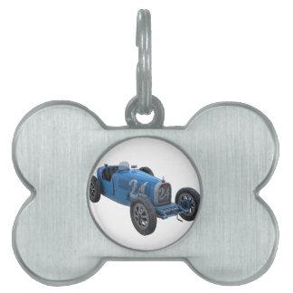 Grand Prix Racing Car in Light Blue Pet ID Tag