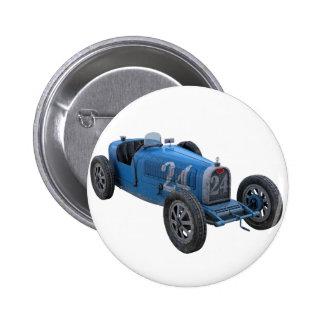 Grand Prix Racing Car in Light Blue Pinback Button