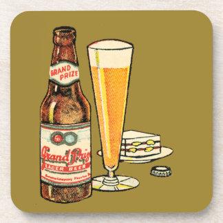 Grand Prize Lager Beer Beverage Coaster