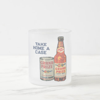 Grand Prize Lager Beer Take Home A Case Frosted Glass Coffee Mug