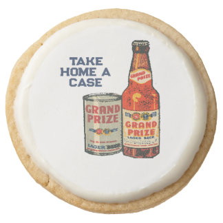 Grand Prize Lager Beer Take Home A Case Round Shortbread Cookie