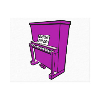 grand purple upright piano with music.png canvas print