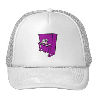 grand purple upright piano with music.png trucker hat