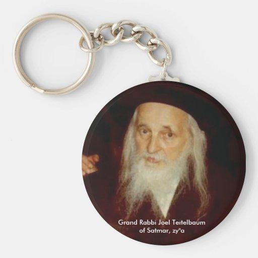 Grand Rabbi Joel Teitelbaum of Satmar Basic Round Button Keychain
