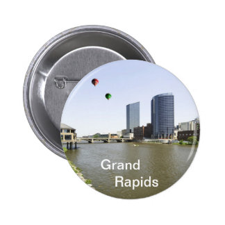 Grand Rapids City Michigan Button
