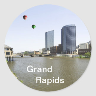 Grand Rapids City Michigan Classic Round Sticker