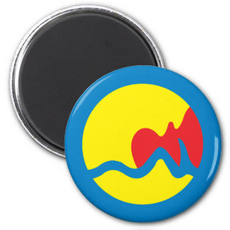 Grand Rapids city's flag 2 Inch Round Magnet