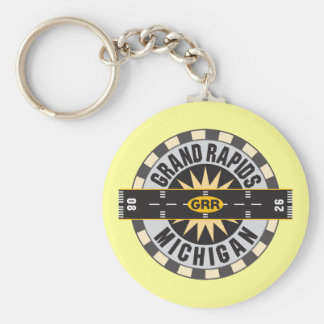 Grand Rapids, MI GRR  Airport Keychain