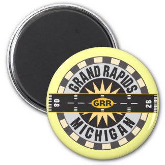 Grand Rapids, MI GRR  Airport 2 Inch Round Magnet