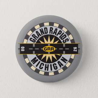 Grand Rapids, MI GRR  Airport Pinback Button