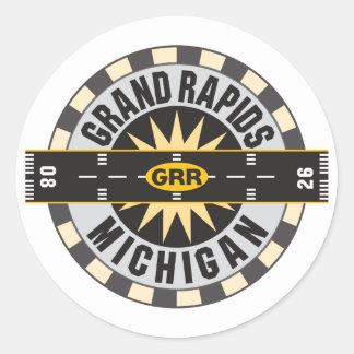 Grand Rapids, MI GRR  Airport Classic Round Sticker